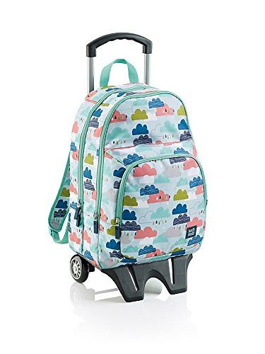 Miquelrius Mochila Cloudy Day Triple Backpack with Trolley (Jr)