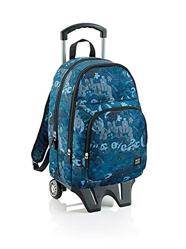 Miquelrius Grunge Triple Backpack with Trolley (Jr)