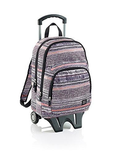 Miquelrius African Tribal Triple Backpack with Trolley (Jr)