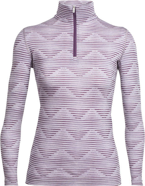 Icebreaker Oasis Diamond LS Shirt Half Zip (Donna)