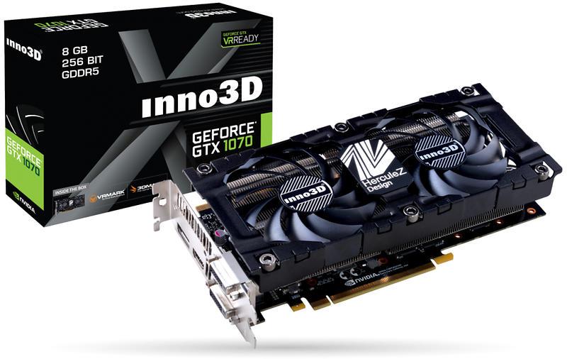 Inno3D GeForce GTX 1070 X2 V3 HDMI 3xDP 8GB