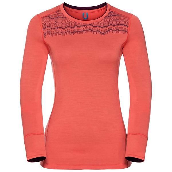 Odlo Natural 100% Merino Printed Crew Neck LS Shirt (Donna)