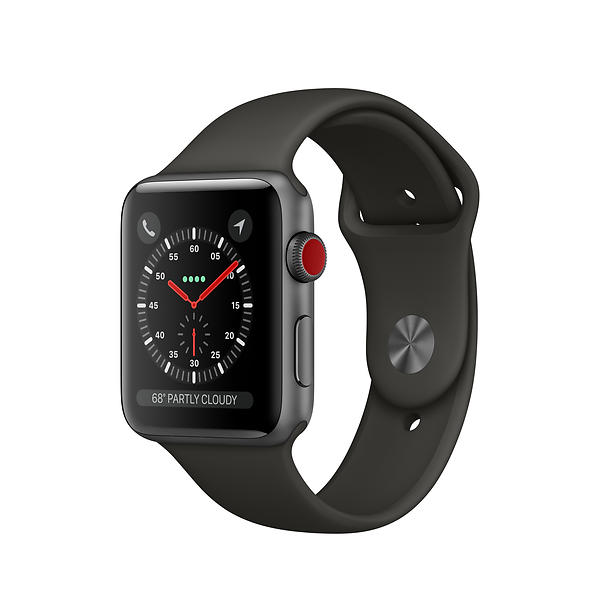 Bild på Apple Watch Series 3 4G 42mm Aluminium with Sport Band från Prisjakt.nu