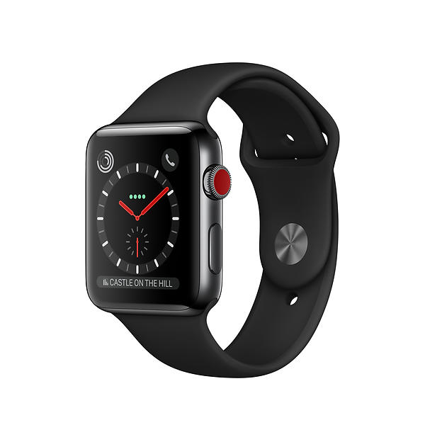 Apple Watch Series 3 4G 42mm Stainless Steel with Sport Band