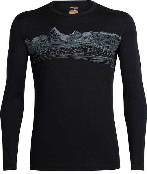 Icebreaker Oasis Crewe Pyrenees LS Shirt (Uomo)
