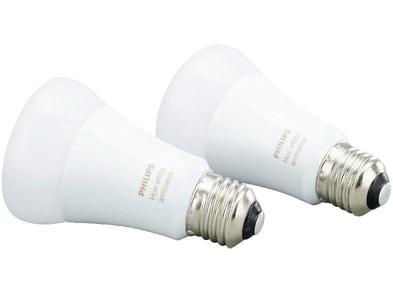 Philips Hue White Ambiance Bulb 806lm 6500K E27 9,5W 2-pack (Dimmerabile)