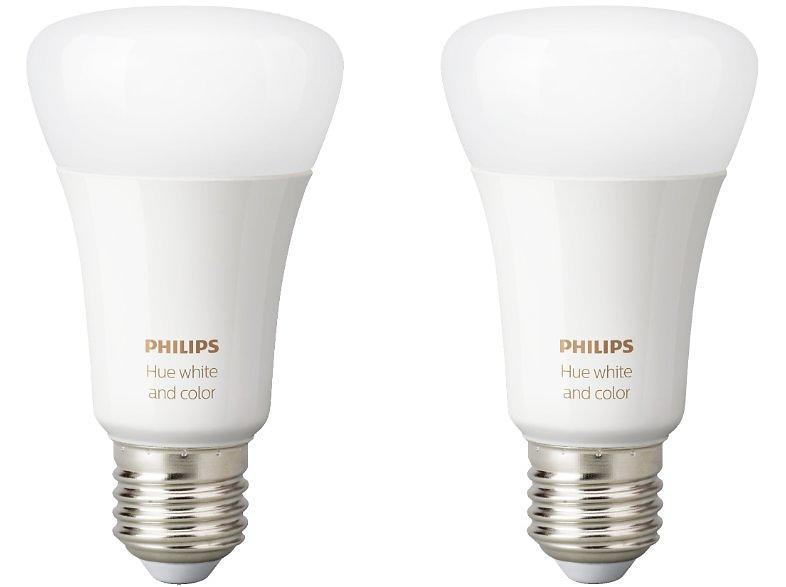 Philips Hue White and Color Ambiance 806lm 6500K E27 2-pack (Dimmerabile)