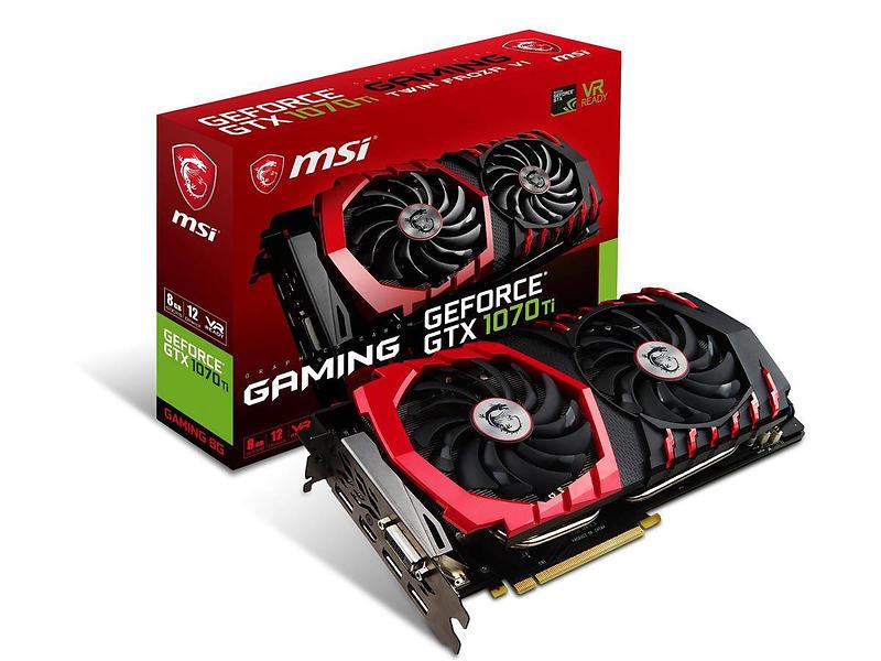 MSI GeForce GTX 1070 Ti Gaming HDMI 3xDP 8GB
