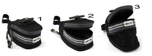MSC Bikes Saddle Reflective Bag With Double Volume Pocket