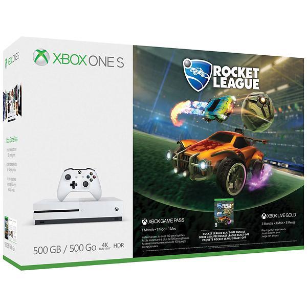 Microsoft Xbox One S 500GB (incl  Rocket League) Best Price