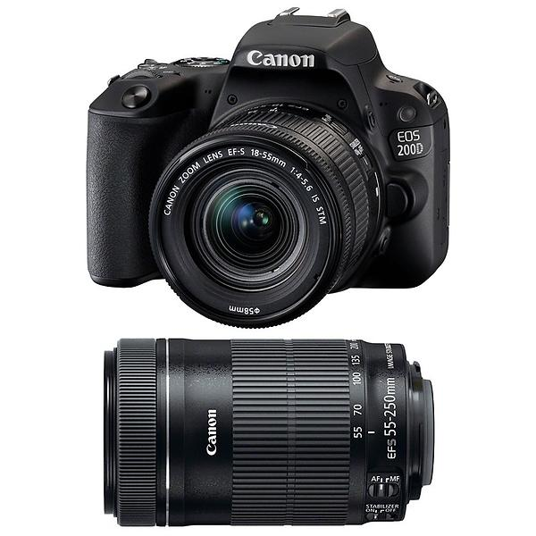 Canon EOS 200D + 18-55/3,5-5,6 IS STM + 55-250/4,0-5,6 IS STM
