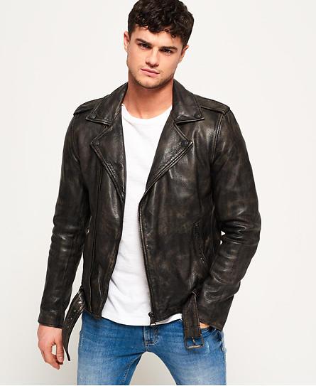 Superdry SD Endurance Custom Leather Jacket (Uomo)