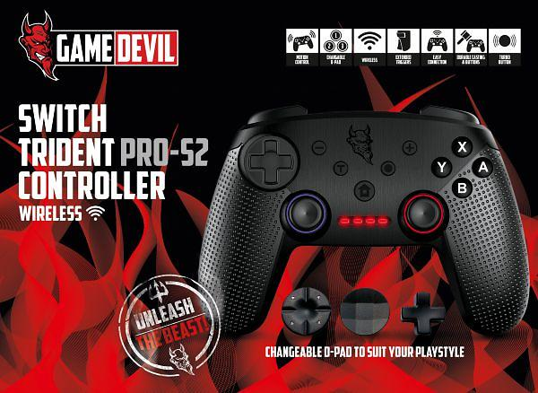 GameDevil Trident Pro-S2 Wireless Gampad (Switch)