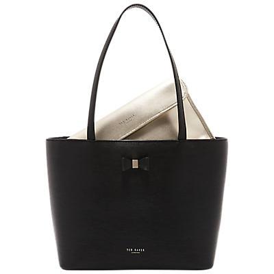 d6e01e00ef Ted Baker Deanie Bow Detail Small Leather Shopper Bag