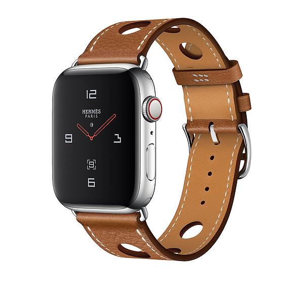 Bild på Apple Watch Series 4 4G Hermès 44mm Stainless Steel with Single Tour Rallye från Prisjakt.nu
