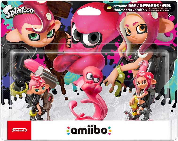 Nintendo Amiibo  Triple Pack Splatoon 2 Octoling