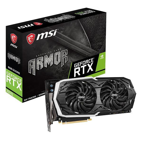 Bild på MSI GeForce RTX 2070 Armor HDMI 3xDP 8GB från Prisjakt.nu