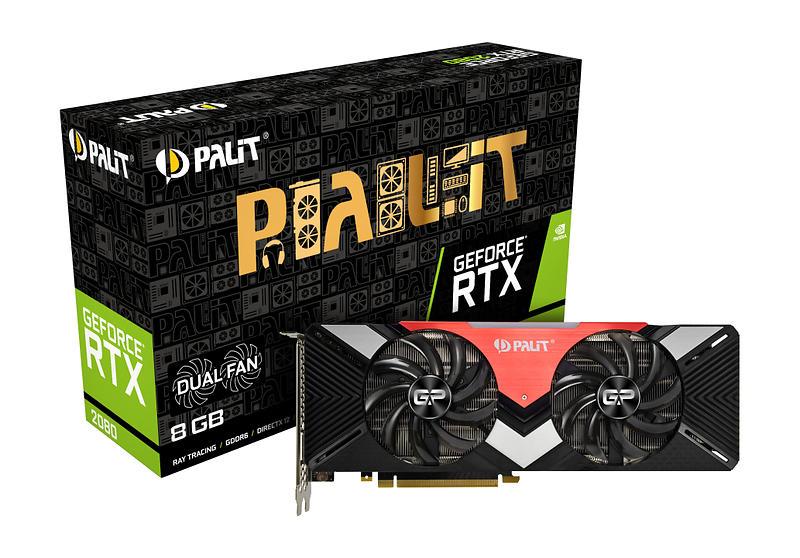 Palit GeForce RTX 2080 Dual HDMI 3xDP 8GB