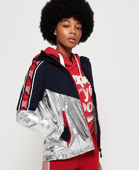Superdry Sport Stripe Chrome Cagoule Jacket (Donna)