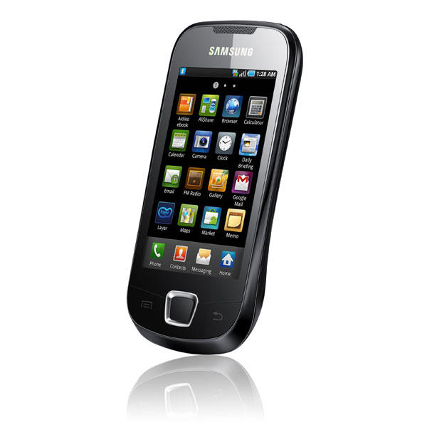 samsung galaxy 3 gt i5800 au meilleur prix comparez les offres de t l phone portable sur. Black Bedroom Furniture Sets. Home Design Ideas