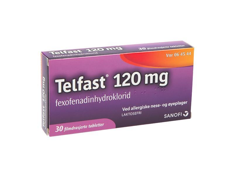 Best pris på Sanofi-Aventis Telfast 120mg 30 Tabletter