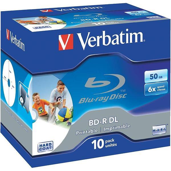 Verbatim BD-R DL 50GB 6x 10pz Jewelcase Wide Printable