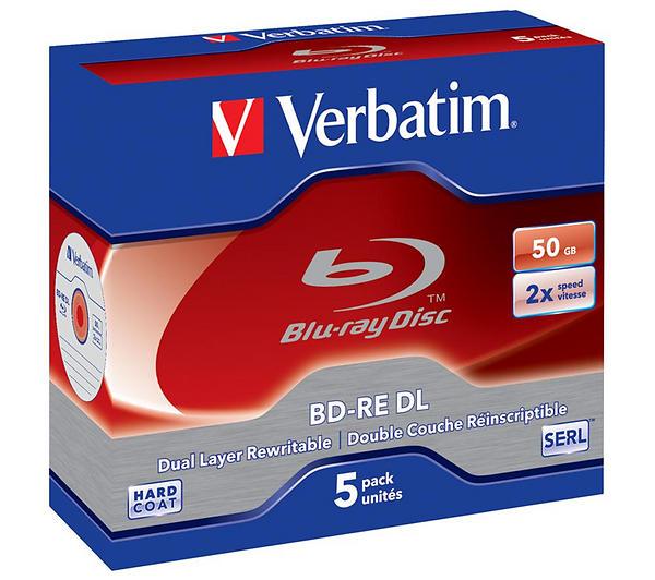 Verbatim BD-RE DL 50GB 2x 5pz Jewelcase