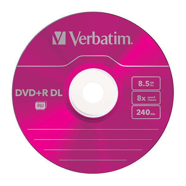 Verbatim DVD+R DL 8,5GB 8x 5pz Colour Slimcase