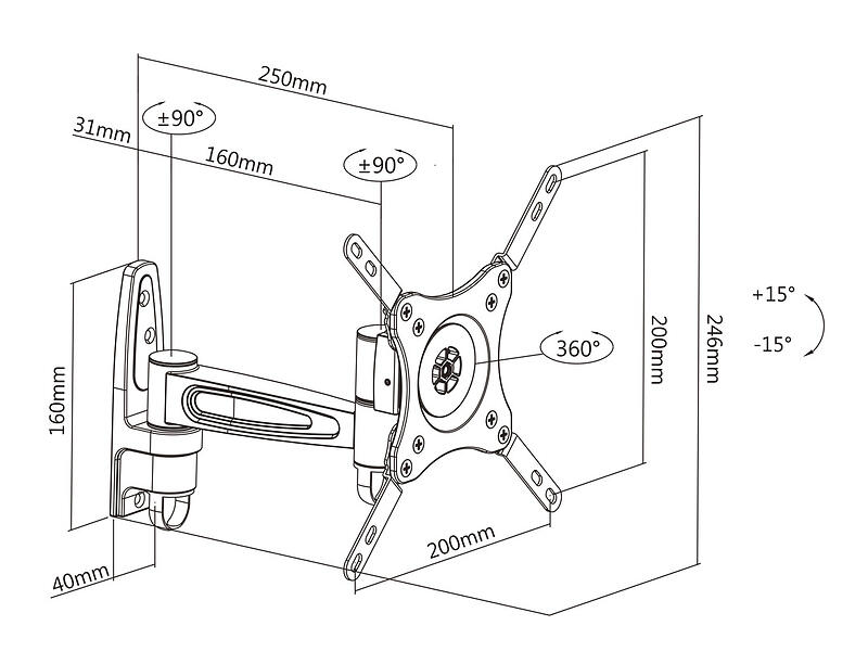 Multibrackets M VESA Flexarm 360 II
